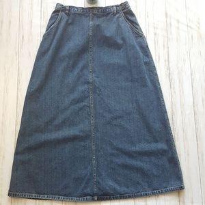 Vintage Liz Claiborne denim maxi skirt size 12